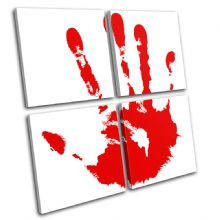 Blood Hand Print Illustration - 13-1297(00B)-MP01-LO
